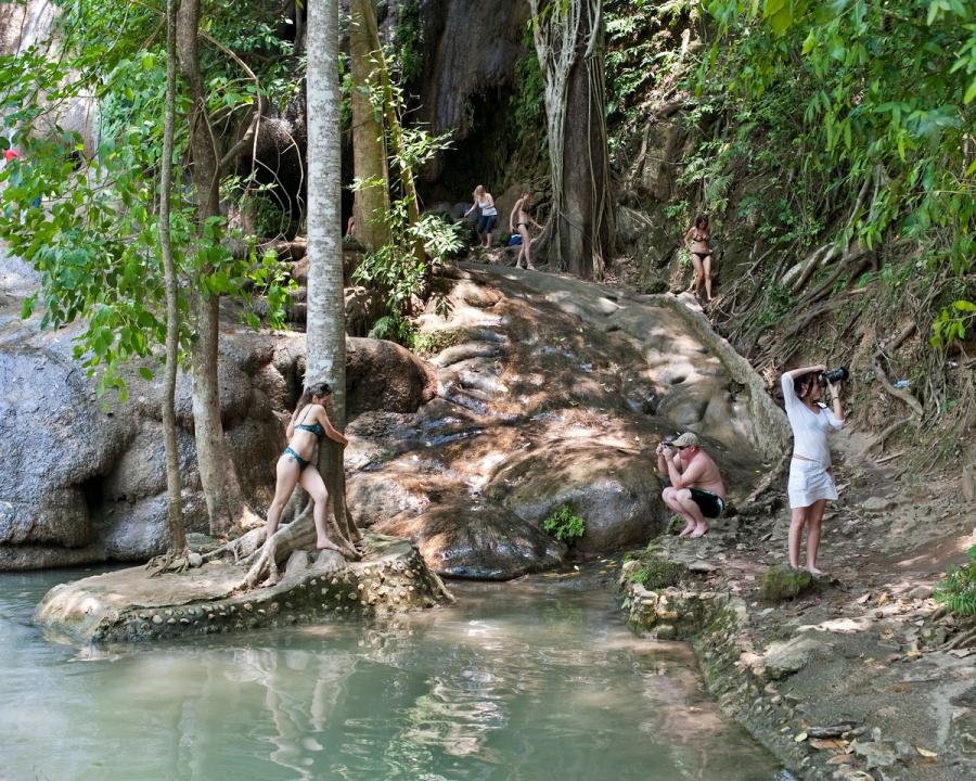 Tourism in Sayop, Thailand, 2011.