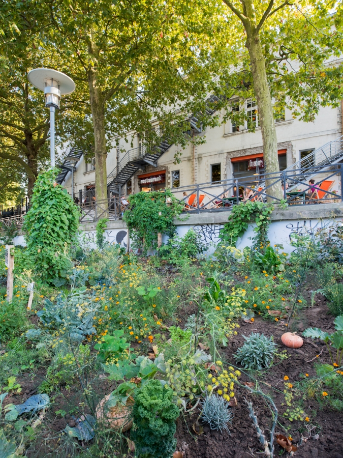 Jardin vivrier participatif de Simone Kroll, au lieu unique à Nantes.
