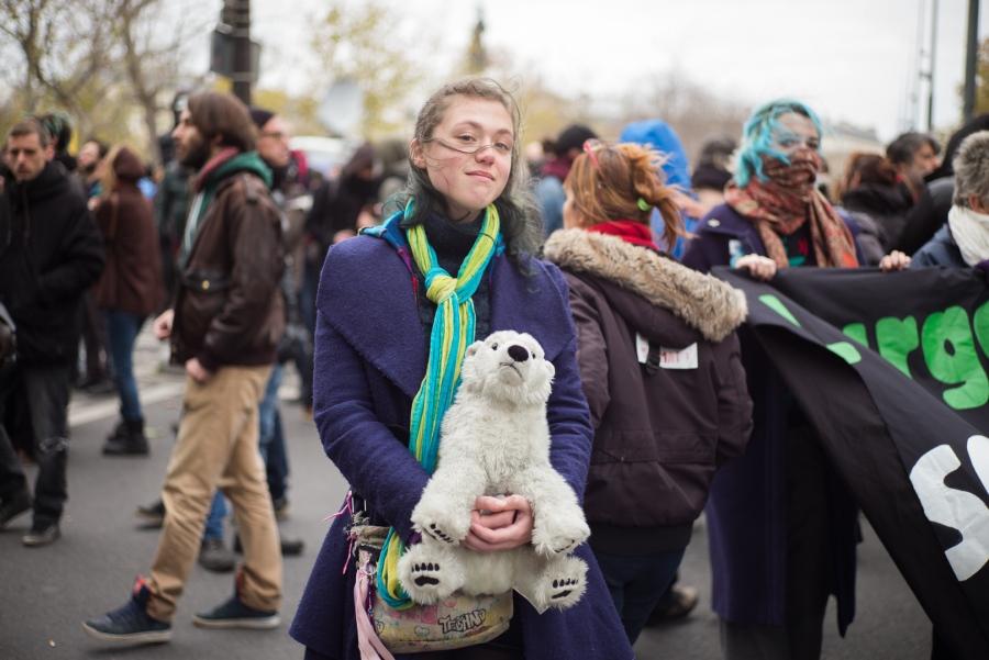 COP 21 : Manifestation place de la République