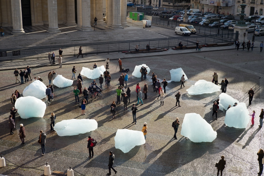 Ice Watch by Olafur Eliasson and Minik Rosing, Place du PanthÈon, Paris, 2015